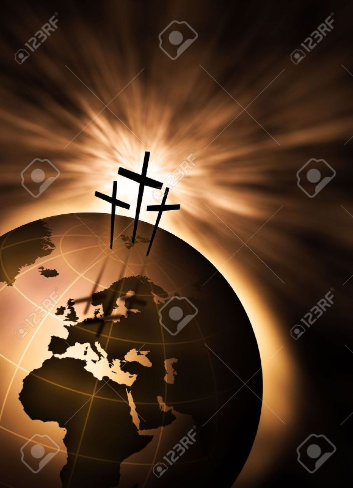 4936357-The-creation-is-saved-by-the-Lord-Jesus-Christ-Stock-Photo-jesus-cross-praise