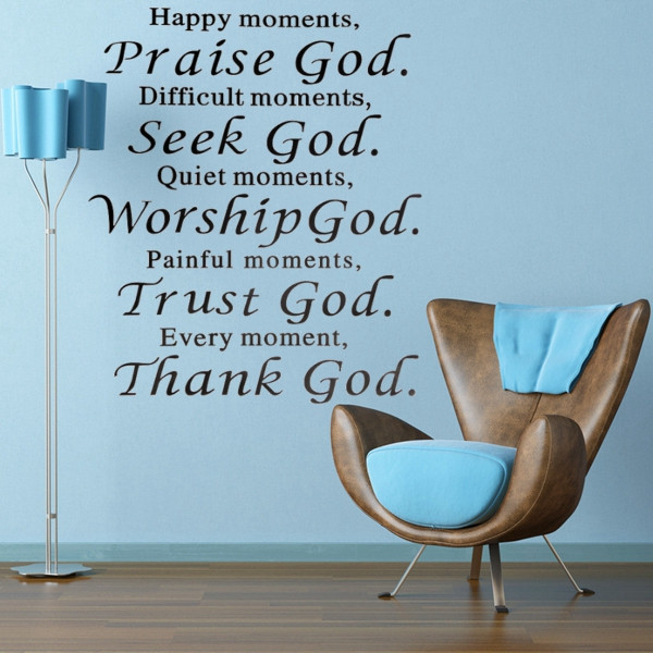 Christian-font-b-Quote-b-font-font-b-Pray-b-font-Praise-God-DIY-Art-Sticker